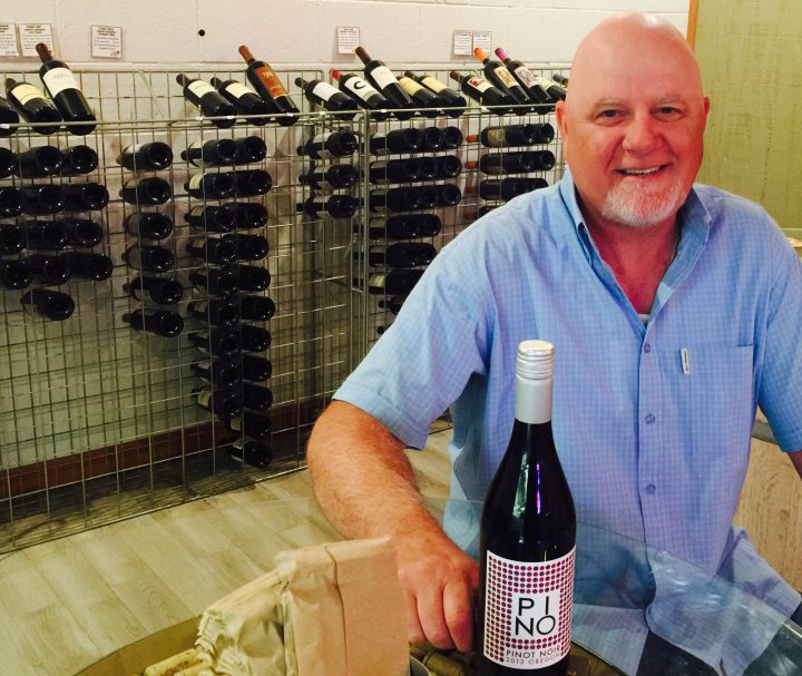 Ron Badaglia in his wine tasting room.